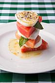 Watermelon burrata caprese