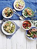 Sechs italienische Salate