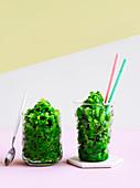 Cucumber-gin slushie