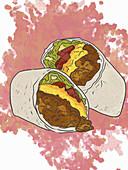 Cheeseburger Burrito (Illustration)