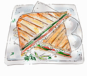 Salmon sandwich (illustration)