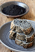 Black bread with activated charcoal