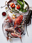 Ingredients for a classic Bouillabaisse