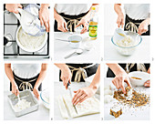 Sushi-Würfel mit Räucherlachs zubereiten