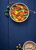 Tomaten-Süsskartoffel-Curry mit Kingklip-Fisch
