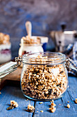 Gluten-free granola with amatanth, pumpkin seeds, coconut and puffed buckwheat