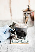 Vegan charcoal latte
