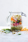 Jar salad with asian dressing