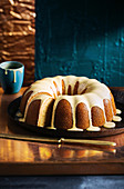 Dairy-free maple and lavender bundt cake