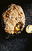Apple, almond and cinnamon crisp