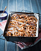 Classic cinnamon and raisin sticky buns