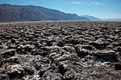 Salt flat in Death Valley