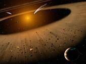 Epsilon Eridani system, illustration