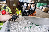 Plastics recycling centre, UK