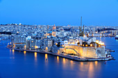 Senglea, Malta, at night