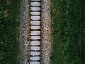 Railway track, aerial view