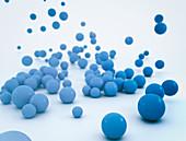 Blue spheres, illustration
