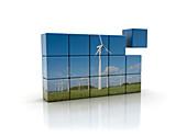 Wind energy, illustration