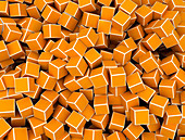 Orange cubes, illustration