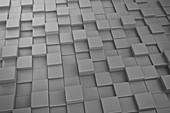 Metallic cubes, illustration
