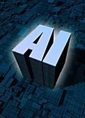 AI, conceptual illustration