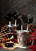 Bonfire toffee lollipops