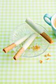 Chocolate and cinnamon cigarettes
