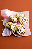 Gingerbread spiral biscuits