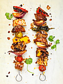 Garlic and Herb Grilled Chicken Kebabs
