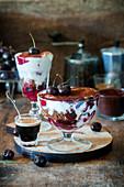 Schokoladen-Kirsch-Trifle