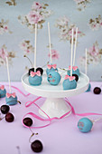 Chocolate and cherry cake pops