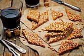 Italian caramel pine nut sweets