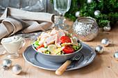 Ceasar Salad mit Geflügelbrust (Weihnachten)