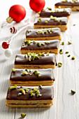 Ischler slices with blackberry jam and dark chocolate