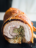 Porchetta (pork belly roast, Italy)