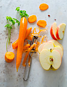 Apple, carrot and parsley