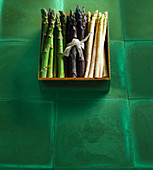 Three kinds of asparagus