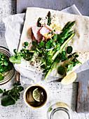 Ham Asparagus Lemon Ricotta Wrap