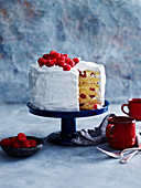Raspberry and Meringue Mile-High Layer Cake