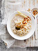 Rice Pudding with Lemon Grass, Hazelnuts and Spices