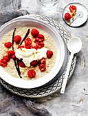 Raspberries and Quinoa Porridge