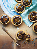 Fruit Mince, Ginger and Chocolate Tarts