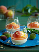 White Chocolate Cream with Poached Peaches