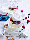Meringue Clouds with Mixed Berries