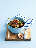 Stir-Fried Rice with Sweet Beef