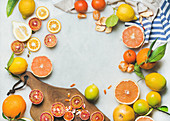 Natural fresh citrus fruits