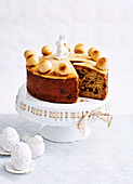 Simmel Fruit Cake with Marzipan icing
