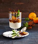 Mandarinen-Printen-Cremedessert