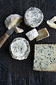 Various blue cheeses