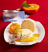 Quark dumplings with a citrus salad